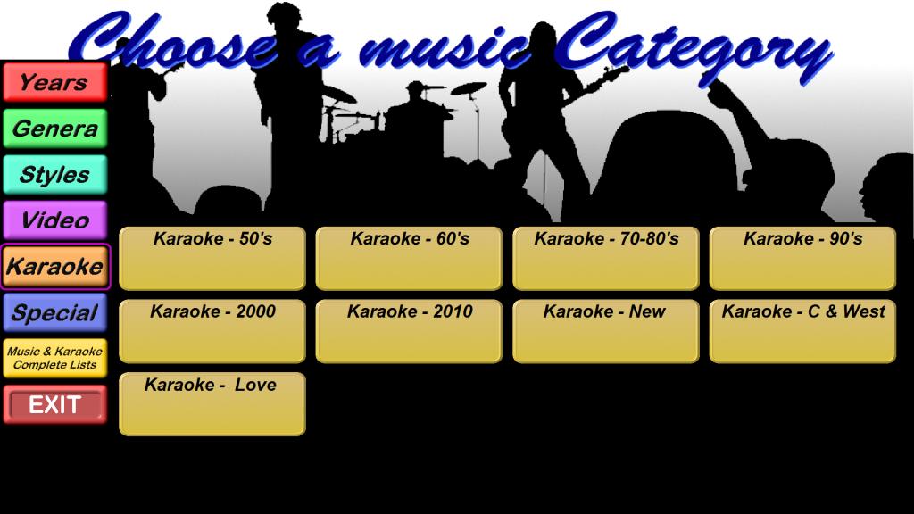 Categories - Karaoke
