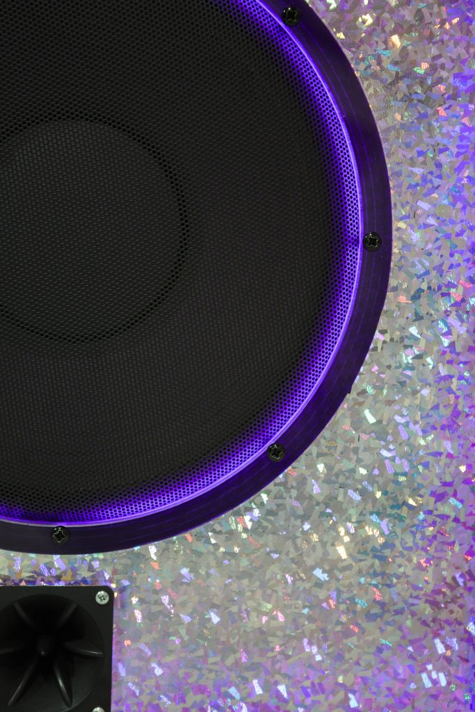 blue amp close up